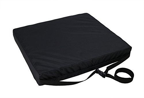 ObboMed SU-2648 Orthopädisches Langlebiges Rollstuhlkissen mit Memory Schaum zur Anwendung bei Dekubitusgeschwüren, Vorbeugung von Ischiasschmerzen, Beckendruck, Stressabbau im Steißbein beim Sitzen, Abmessungen 40.5 x 45.7 x 7.5 cm