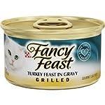Cat Food Purina Fancy Feast Gravy Wet Cat Food, Grilled Turkey Feast in Gravy – (24) 3 oz. Cans