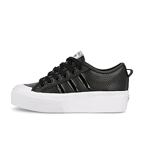 adidas Nizza Platform W, Zapatillas Deportivas Mujer, Core Black Core Black FTWR White, 36 EU