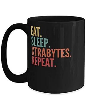Xtrabytes Crypto Eat Sleep Xtrabytes Repeat Mug 15oz black
