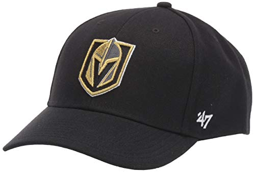 '47 Brand NHL MVP Gorra Ajustable, Unisex, NHL MVP Adjustable Hat, Negro,...