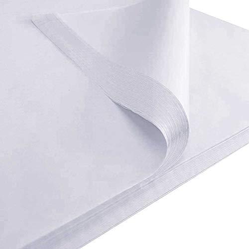 IMBALLAGGI 2000-220 Fogli di Carta Velina Bianca 20 gr/mq - 100x150 cm - Carta per Imballaggio e Cartamodelli da Sarta - 220 Fogli