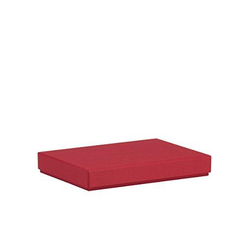 Rössler 1352453361 Box mit Deckel, 155 x 215 x 30 mm, Rot