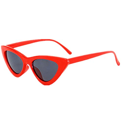 Sonnenbrille Polarisiert für Damen/Dorical Cateye Bonbonfarben kleiner Rahmen Gläser Sonnenbrille mit UV-400 Schutz Vintage Brille Super Coole Frauen Sunglasses Travel Eyewear(D)