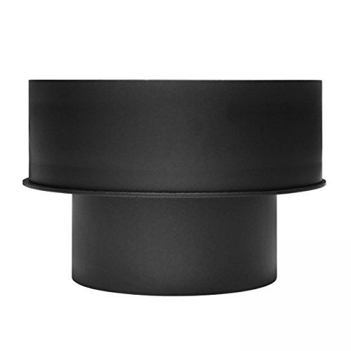raik SH145-001-sw Rauchrohr/Ofenrohr Erweiterung 120mm -180mm schwarz