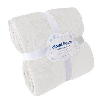 """Cloud Full/Queen Fleece Blanket (Queen Size 90"""" x 90"""", White)"""