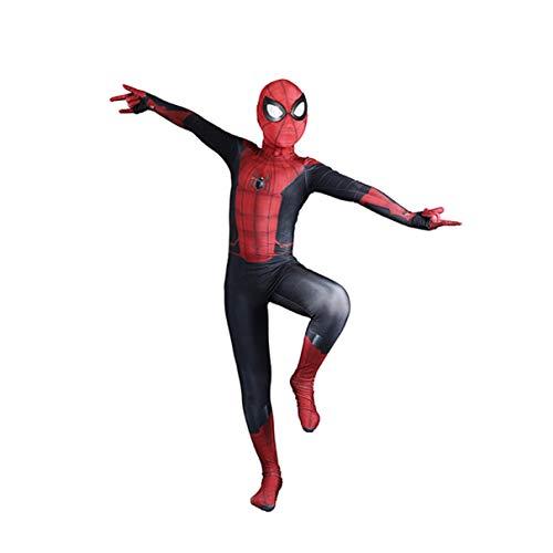 Los Aficionados Spider Man Juego De Roles Trajes Vengadores Superhero Cosplay Traje Del Hombre Araña De Hierro Película De Anime Bodysuit De La Mascarada Del Mono,Far From Home-Kids/XL(140~150CM)