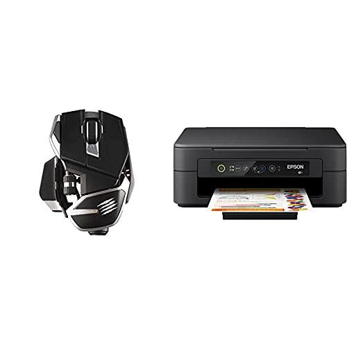 Madcatz R.A.T. Dws Dual Wirelessoptical Gaming Mouseblack & Epson Expression Home XP-2100 3-in-1-Tintenstrahl-Multifunktionsgerät, Drucker (DIN A4) Amazon Dash Replenishment-fähig, schwarz