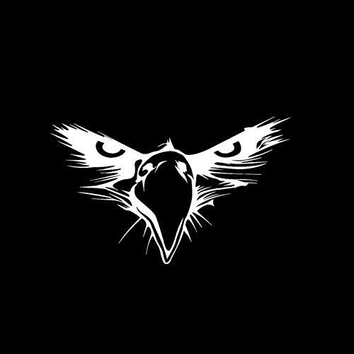 GQQ auto sticker 15,5 cm * 9,5 cm persoonlijkheid kaal adelaar vogel snavel hoofd Vinyl auto Sticker zwart/zilver Sticker ZILVER