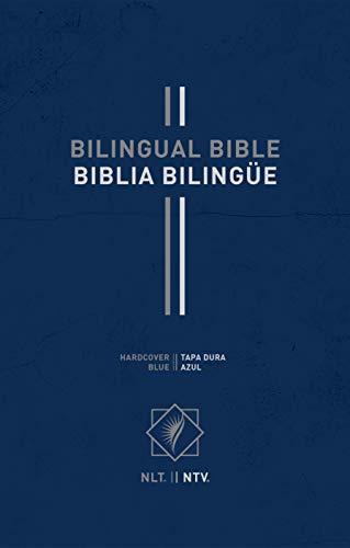 Bilingual Bible / Biblia bilingüe NLT/NTV (Hardcover, Blue)