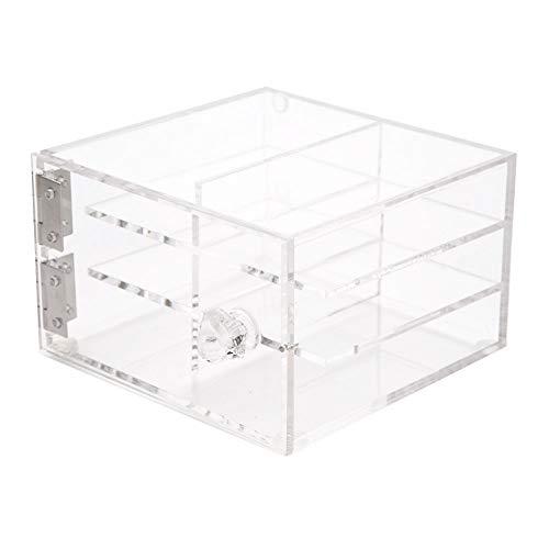 Duevin Clear Eyelash Case - 6 Couches Transparent Cils Storage Box Makeup Case Cosmétique Cils Storage Box Makeup Durable Cosmetic Case