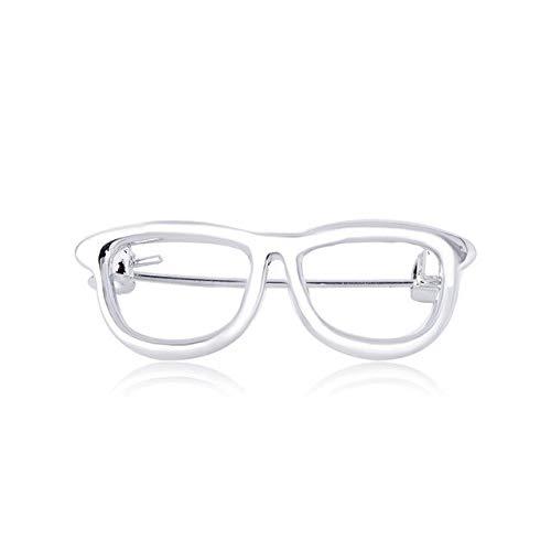 Broches informales para gafas, alfileres esmaltados para mujeres, hombres, rutina de trabajo, decoración de vacaciones, adornos, abrigo, solapa, color plateado