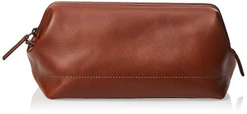 Fossil mens Framed Shave Kit Cognac Handbag Organizer, Cognac, 10.3 L x 6 W 5.5 H US