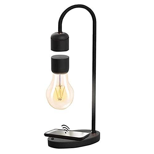 Levitación magnética Lámpara de escritorio LED de carga inalámbrica Balance de la luz de la mesa Luz de noche Lámparas de noche Levitación magnética Bombilla