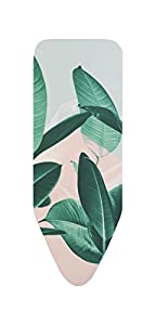 Brabantia - Funda para tabla de planchar C 124 x 45 cm, 2 mm de espuma, color Tropical Leaves