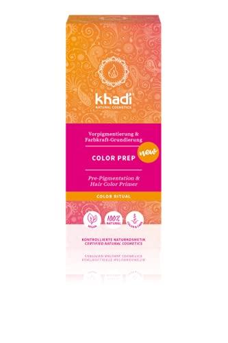 Khadi Ayurvedische Pflanzenhaarfarbe I COLOR PREP I Vorpigmentierung und Farbkraft-Grundierung I Naturhaarfarbe 100% natürlich & vegan I Zertifizierte Naturkosmetik I 100g