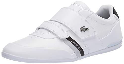 Lacoste Men's Misano Strap 120 1 U CMA Sneaker, White/Black