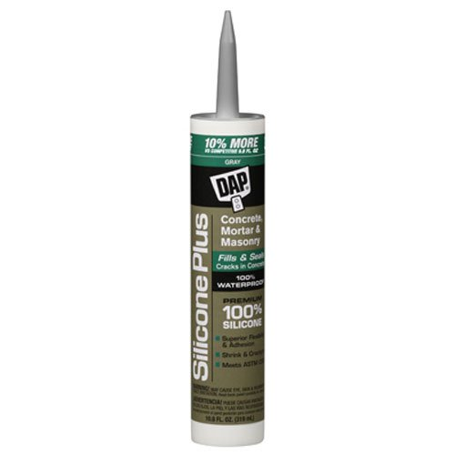 DAP 8675 Silicone Plus Concrete Raw Building Material, 10.1 oz, Gray