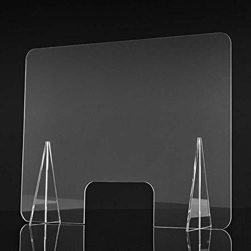 Mampara de metacrilato para mostrador. Mampara para protección del contagio. 65 x 50 cm