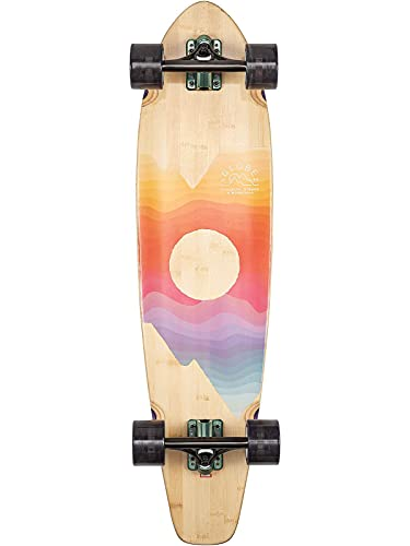 "Globe Arcadia Longboard, Adult Unisex, Bamboo/Mountains (Multicolor), 36"""