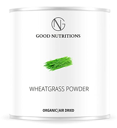 Erba di Grano in Polvere - ricco di vitamine Biologica vegano crudo pura nutritivo no additivo Good Nutritions 120g