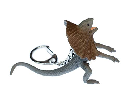 Miniblings Echse Kragenechse Schlüsselanhänger Australien Reptilien Dragon Drachen - Handmade Modeschmuck I I Anhänger Schlüsselring Schlüsselband Keyring