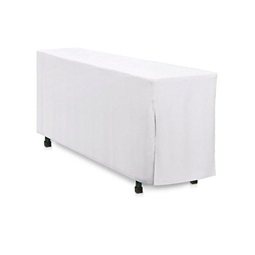 Hans-Textil-Shop Biertischhusse 220x70 cm Weiß Baumwolle Linon Bodenlang