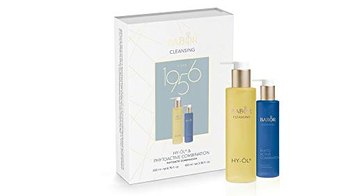 BABOR CLEANSING Hy-Öl & Phytoactive Combination Set, Jubiläums-Collection, Reinigungs-Duo, für Mischhaut, 2 Teile