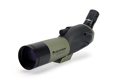 Celestron – Ultima 65 Angled Spotting Scope – 18 to 55x65mm Zoom Eyepiece – Multi-Coated Optics for Bird Watching, Wildlife, Scenery and Hunting – Waterproof and Fogproof – Includes Soft Carrying Case