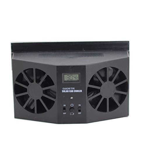 Zinniaya energiebesparing, eenvoudig te bedienen, automatische ventilatie, krachtige autoventilator, voor het verwijderen van radiatoren met zonne-energie, 2 W, luchtreiniging