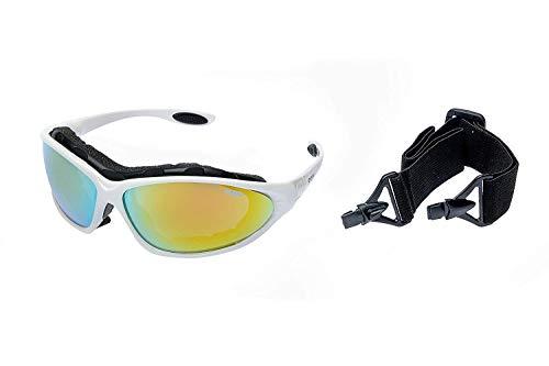 Ravs sportbril bergbril skibril voor alle weersomstandigheden, met 70% contrastversterking en tas