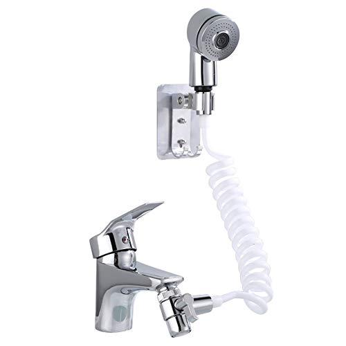 洗面台蛇口に繋げるシャワーヘッド トイレでの延長式 手持ち式 ノズルのシャンプー アーティファクト
