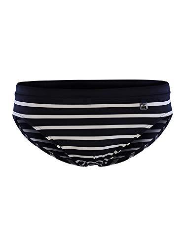 HOM - Herren - Swim Mini Briefs 'Pavillon' - Moderne Badehose im Retrodesign gestreift - Navy/White - XL