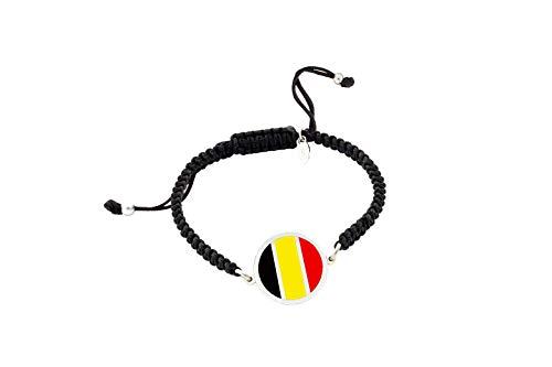Belgium Flag Bracelet | Women's Bracelet and Men's Bracelet | Personalised Bracelet | Original Gift | Belgium Flag | I am staying at home Personalised