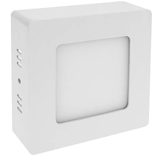 Cablematic - Panneau LED surface de downlight carré 120mm 6W blanc chaud