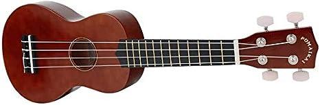 POMAIKAI Soprano Wood Ukulele Rainbow Starter Uke Hawaii Kids Guitar 21 Inch with Gig Bag for kids Students and Beginners Black