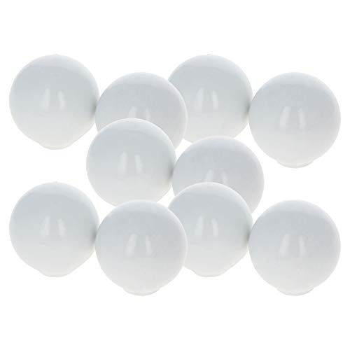 MroMax ABS Ball Knob Female Thread Machine Handle 24mm/0.94 Inch Diameter Smooth Rim White 10pcs