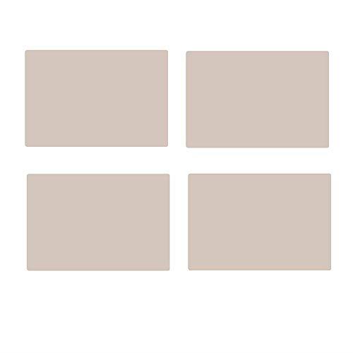 AIITLLYNA - Juego de 4 mesas de piel antideslizantes y lavables, para cocina, hogar, despensa, Navidad, banquete, cumpleaños, bodas, color blanco crema, cuadrado
