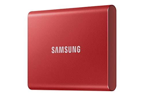 Samsung T7 Portable SSD - 2 TB - USB 3.2 Gen.2 Externe SSD Metallic Red (MU-PC2T0R/WW)