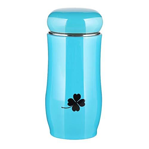 CHUANGJIE Hoofdgecoate glazen sap-schaal, multi-water-schaal, vroege melk-maaltijd-drank-schaal blauw