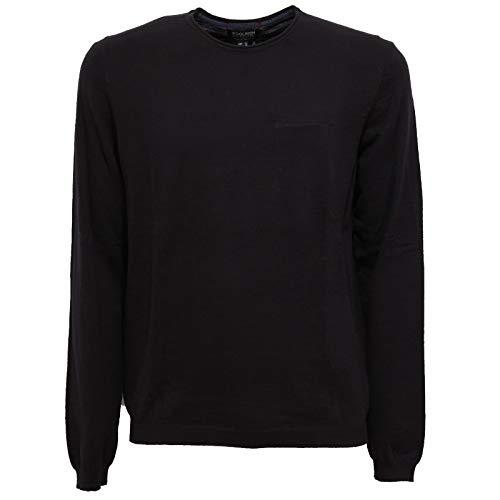 WOOLRICH 2711X Maglione Uomo Black Cotton Sweater Man [S]