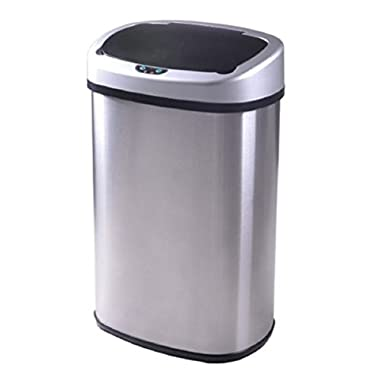BestOffice Automatic Trash Can For Bedroom Outdoor 13 Gallon