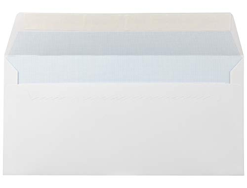 Liderpapel Sobre N.5 Blanco Americano 115X225Mm Tira De Silicona Open System Caja De 500 Unidades