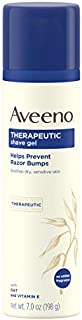 Aveeno Therapeutic Shave Gel with Oat and Vitamin E to Help Prevent Razor Bumps and Soothe Dry and Sensitive Skin, No Added Fragrances and Non-Comedogenic, 7 oz