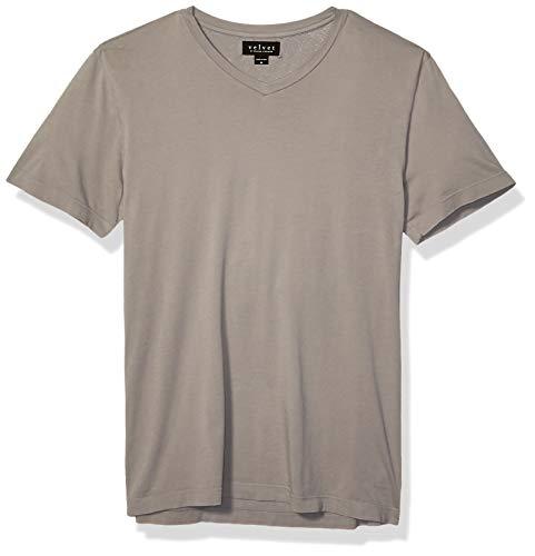 Velvet by Graham & Spencer Herren Men's Samsen SS V Neck Cotton Tee T-Shirt, Kanone, XX-Large