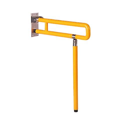 Liuhoulin Inodoro Accesible Accesible Pasamanos Plegable Inodoro al revés Inodoro Baño Inhabilitado Ancianos (Color : Yellow, Size : 70CM)