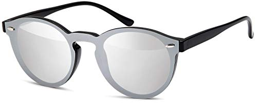 styleBREAKER gafas de sol con un solo cristal con lentes planas y...