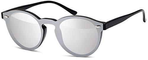 styleBREAKER gafas de sol con un solo cristal con lentes planas y patillas de plástico, lentes redondas, unisex 09020081
