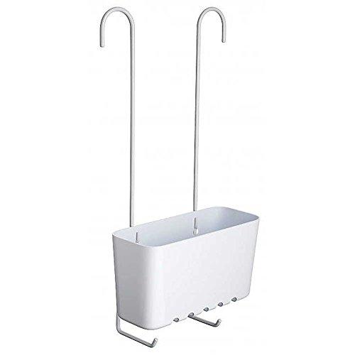 Sanixa TA4522001 Hochwertiges Duschregal zum Einhängen   Messing, Kunststoff   rostfrei   Duschablage ohne Bohren   Duschkorb   Wannenablage   stabil