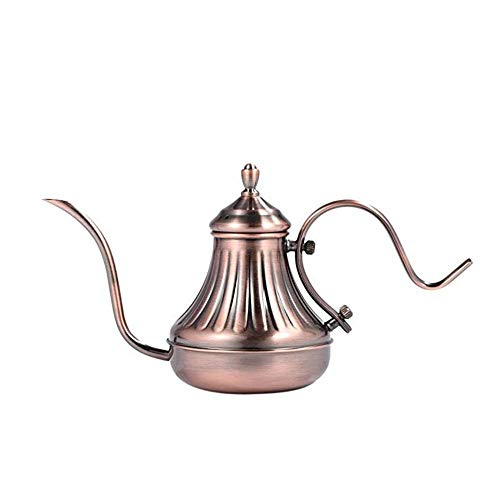 YBWEN koffiewaterkoker wijnoogst-art koffieketel fornuis gieten boven ketel druppelvanger koffie ketel lange mondkoffiepot theepot 650 ml stovetop Kettles